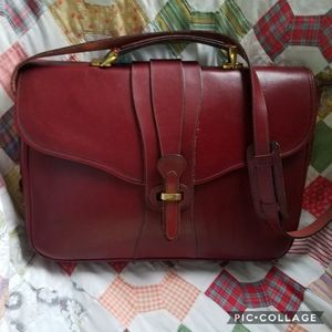 Vintage Dooney & Bourke Bridle Leather Briefcase